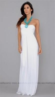 Turquoise And White Maxi Dress - Missy Dress