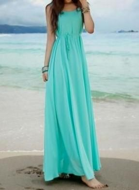 Turquoise Maxi Dress | Gommap Blog