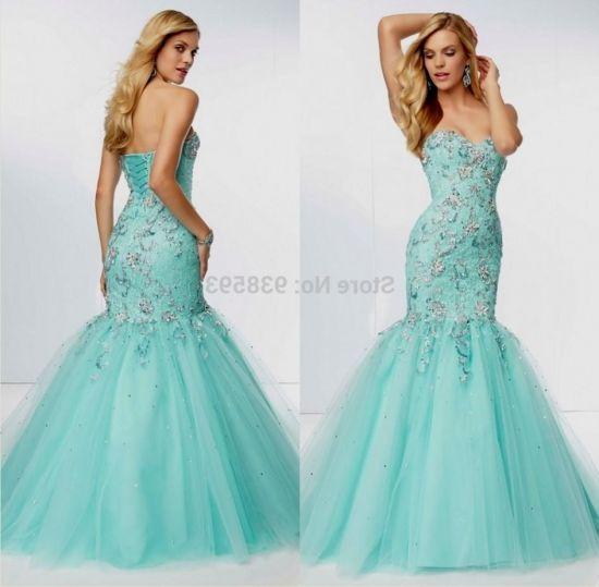 turquoise mermaid prom dresses lace 20162017 b2b fashion