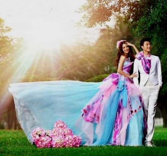 unique colorful wedding dresses 2016-2017 | B2B Fashion