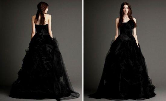 Vera Wang Black Wedding Dress 2016 2017