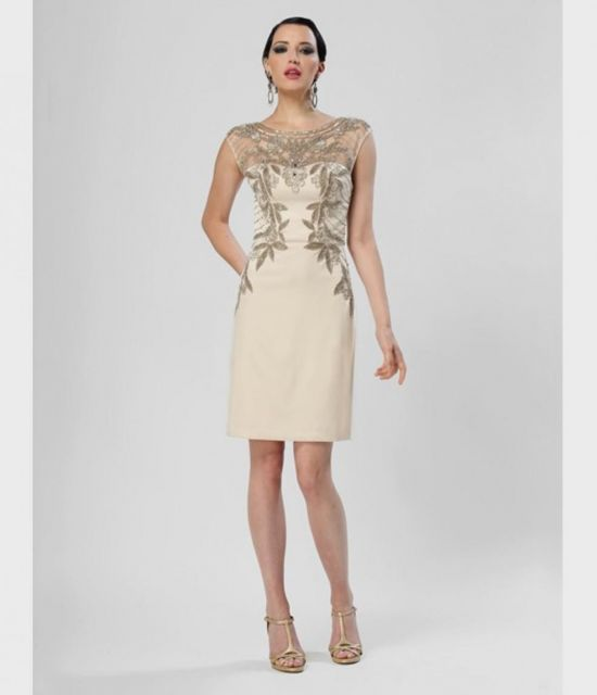 vintage champagne cocktail dress 2016-2017 | B2B Fashion
