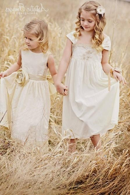 Vintage Flower Girl Dresses 2016 2017 B2b Fashion