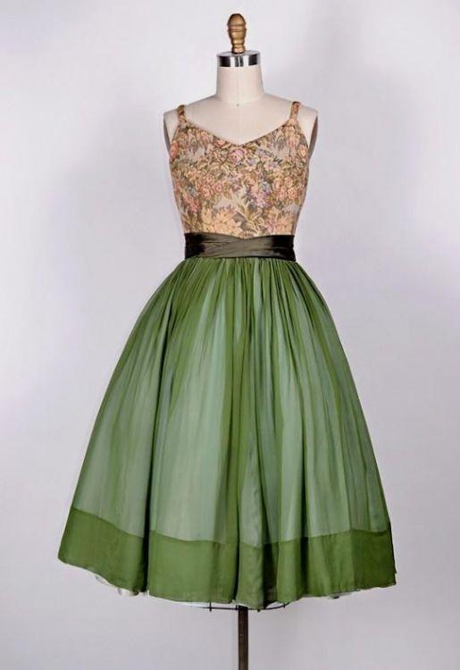 vintage green cocktail dress 2016-2017 » B2B Fashion