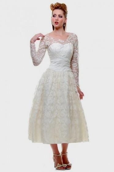 Vintage Plus Size Tea Length Wedding Dresses 2016 2017 B2b Fashion