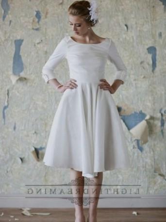 vintage plus size tea length wedding dresses 20162017