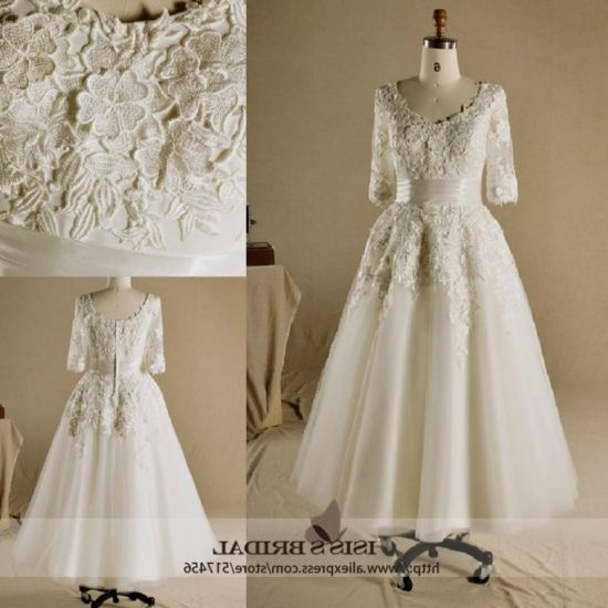 Plus Size Gothic Wedding Dresses 2016 2017: Vintage Plus Size Tea Length Wedding Dresses 2016-2017