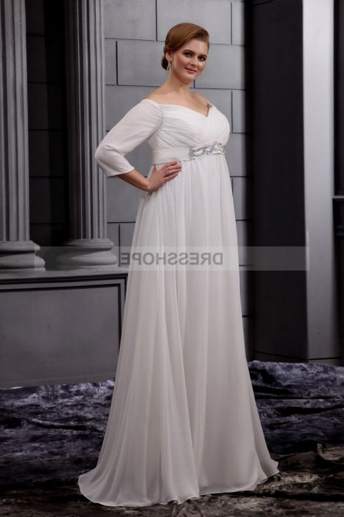 Plus Size Vintage Wedding Dresses With Sleeves Discount Wedding