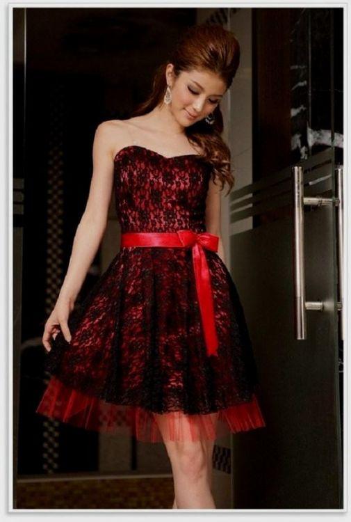 vintage red and black lace dress 2016-2017 | B2B Fashion