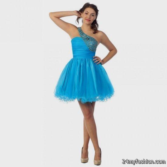 white and blue dama dresses short 2016-2017 » B2B Fashion