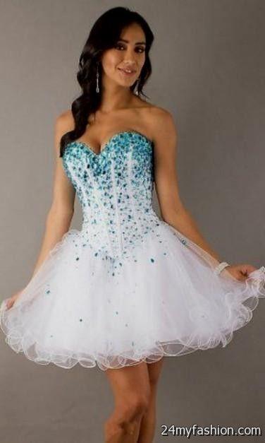 Blue and White Mini Dress