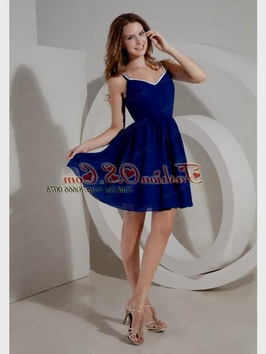 White And Royal Blue Dama Dresses For Quinceanera Looks