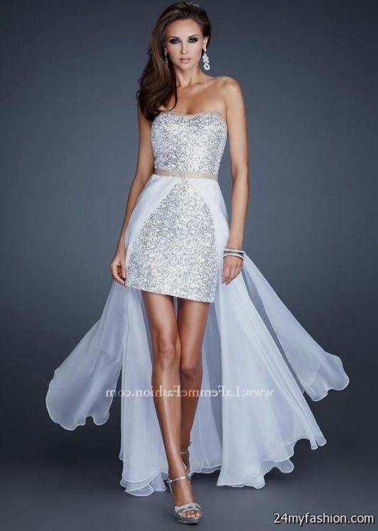 White And Silver Cocktail Dress 2016 2017 B2b Fashion