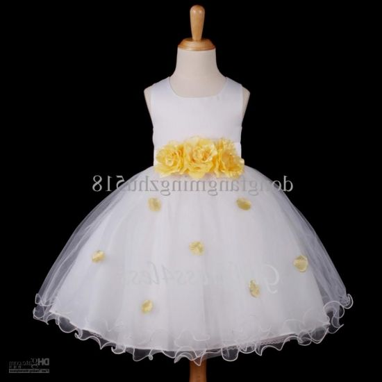 Black and white flower girl yellow dress very valuable
