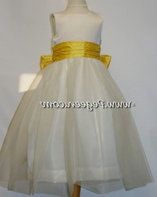 Black and white flower girl yellow dress agree with