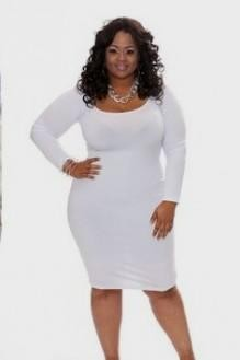 white bodycon dress plus size looks | B2B Fashion