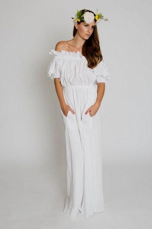 White Bohemian Maxi Dress Looks B2b Fashion