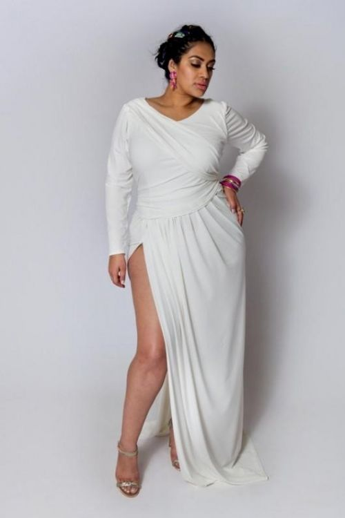 all white party dress plus size - gaussianblur