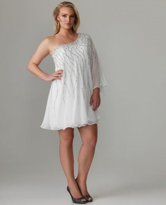 White Cocktail Dresses For Plus Size Women 2016 2017 B2b Fashion