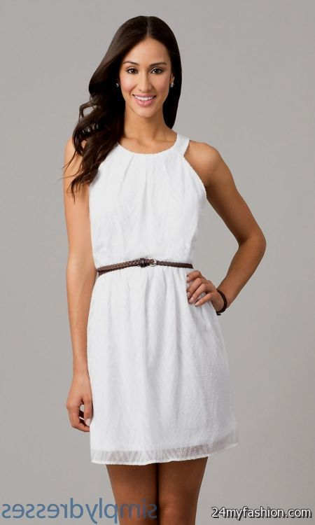 White Graduation Dresses Juniors 51