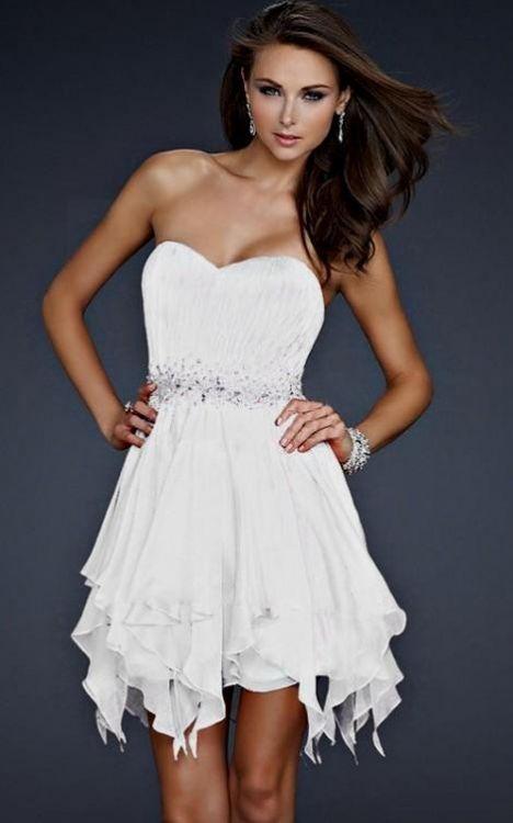 White Dresses For Homecoming - Black Prom Dresses