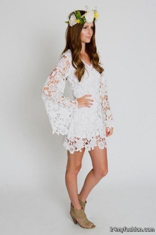 White Hippie Dress 2016 2017 B2b Fashion