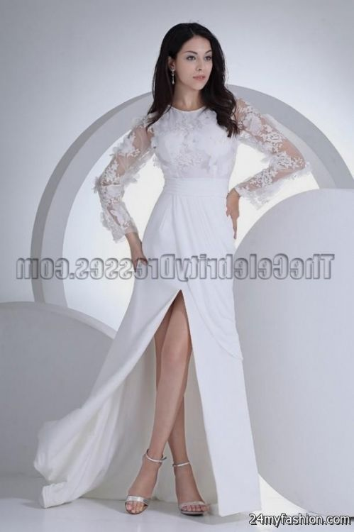 white homecoming dress with sleeves 20162017 b2b fashion