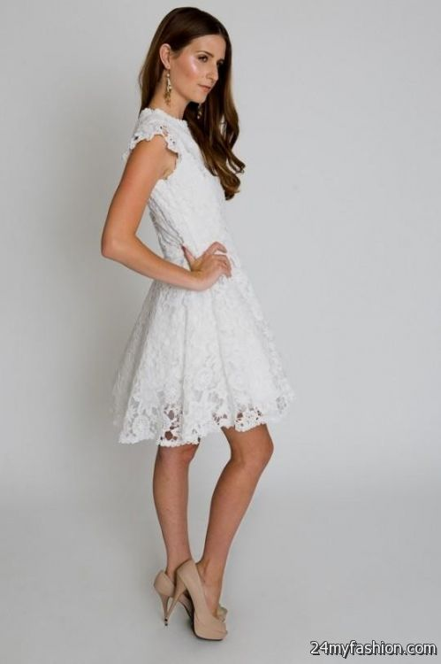 white lace cocktail dresses 2016-2017 | B2B Fashion