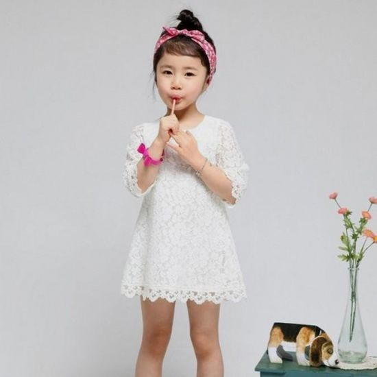 0afa39c11b8b white lace dress for kids looks