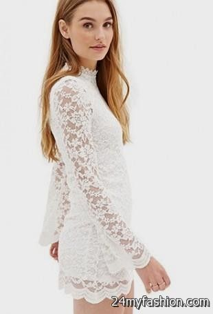2dd7bbe24d8e White Lace Dress With Sleeves Forever 21 - Dress Foto and Picture