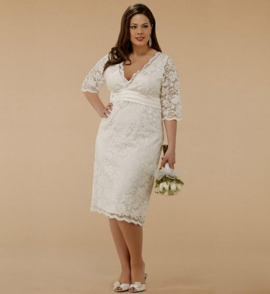 white lace dress with sleeves plus size 2016-2017 | b2b fashion