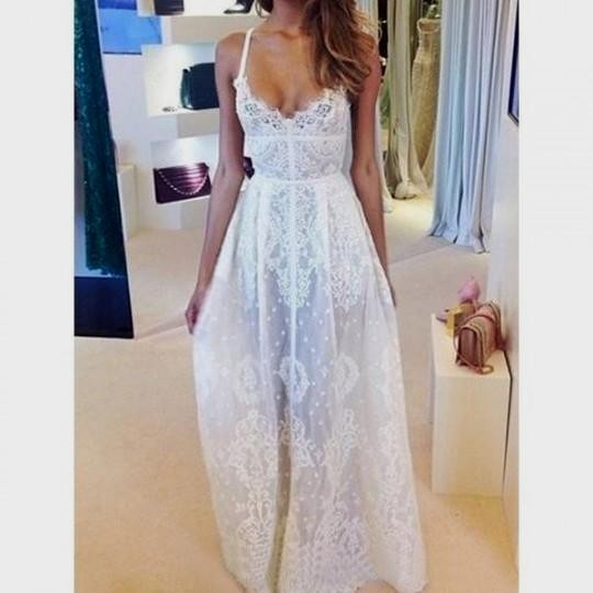 Collection White Lace Maxi Dress Pictures - Reikian