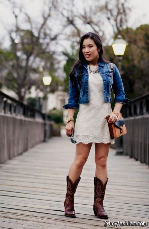 white lace summer dress with cowboy boots 2016-2017 | B2B ...