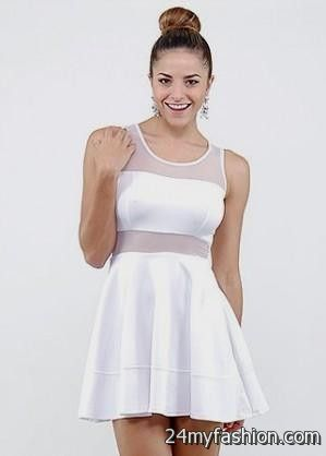 83d81fcbf3dd You can share these white mesh skater dress on Facebook