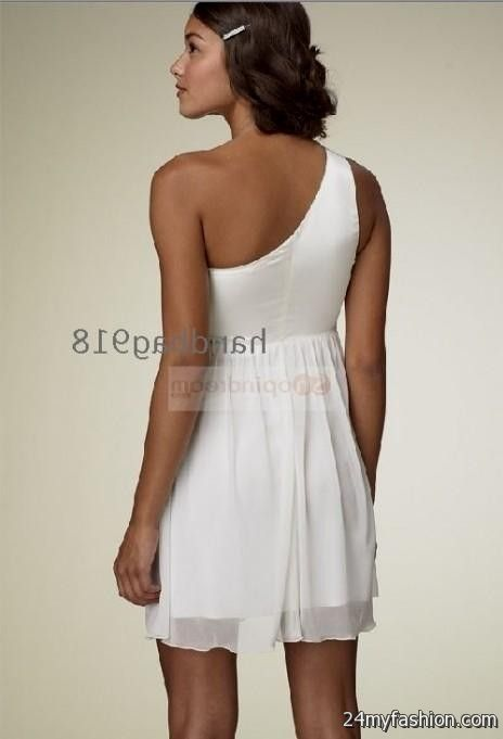 white one shoulder cocktail dresses 20162017 b2b fashion