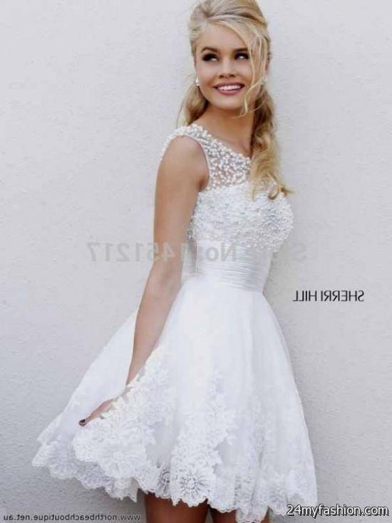 white poofy dress short 2016-2017 » B2B Fashion