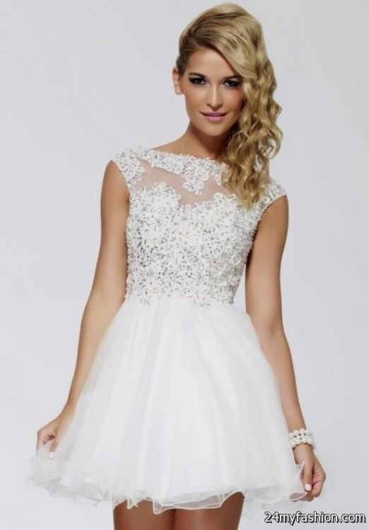 White Semi Formal Dresses 2016 2017 B2b Fashion