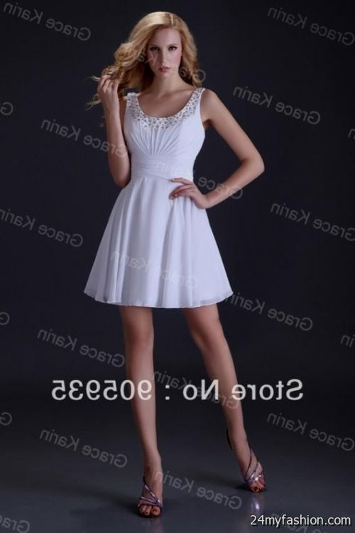 White Semi Formal Dresses Juniors 2016 2017 B2b Fashion