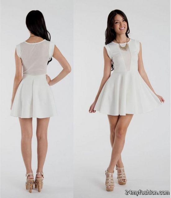 white short dress with sleeves 2016-2017 » B2B Fashion