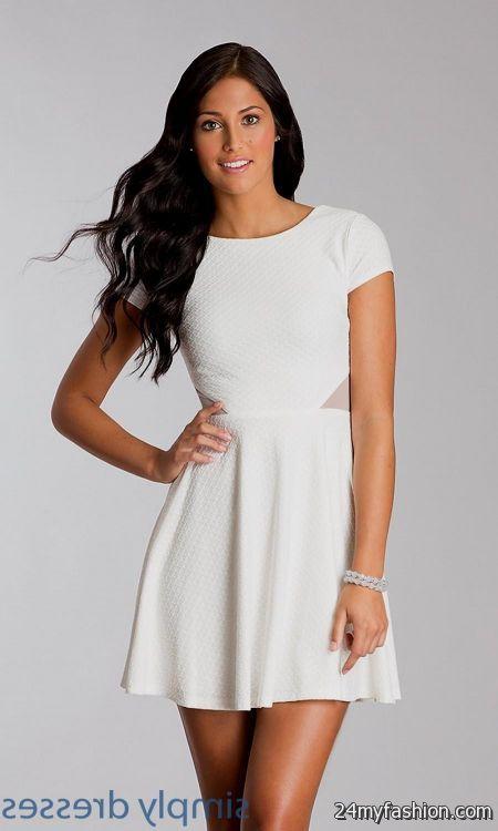 Images of All White Short Dresses - Reikian