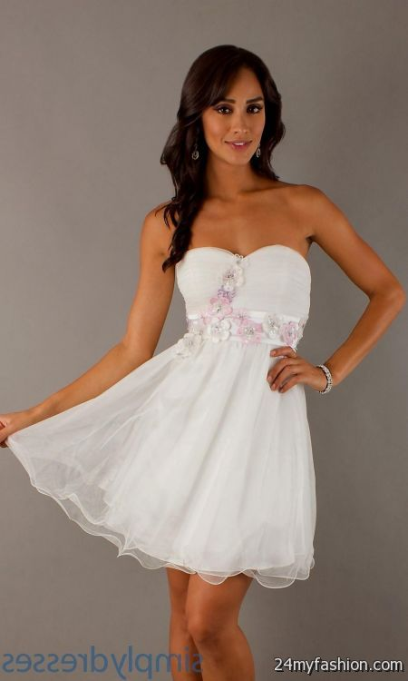 White Short Formal Dresses For Juniors Looks B2b Fashion