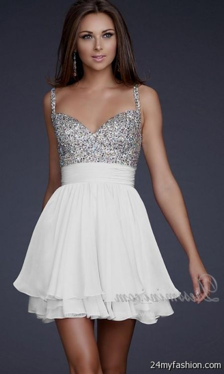 White Short Formal Dresses For Juniors Looks  B2B Fashion-1295