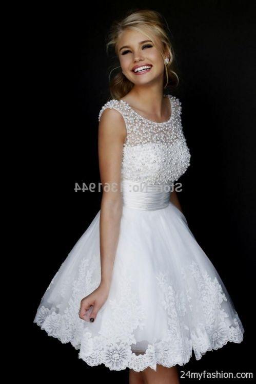 White Short Formal Dresses For Juniors Looks B2b Fashion