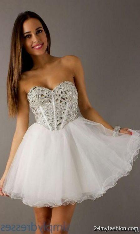 Images of White Short Prom Dresses - Reikian