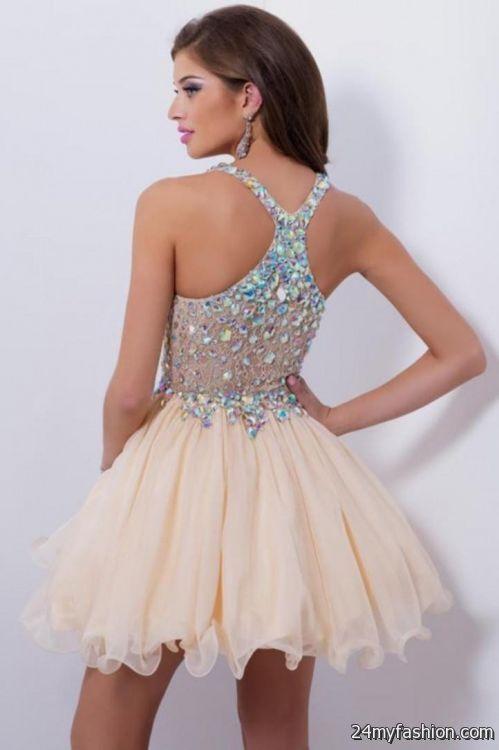 white short prom dresses 2016-2017