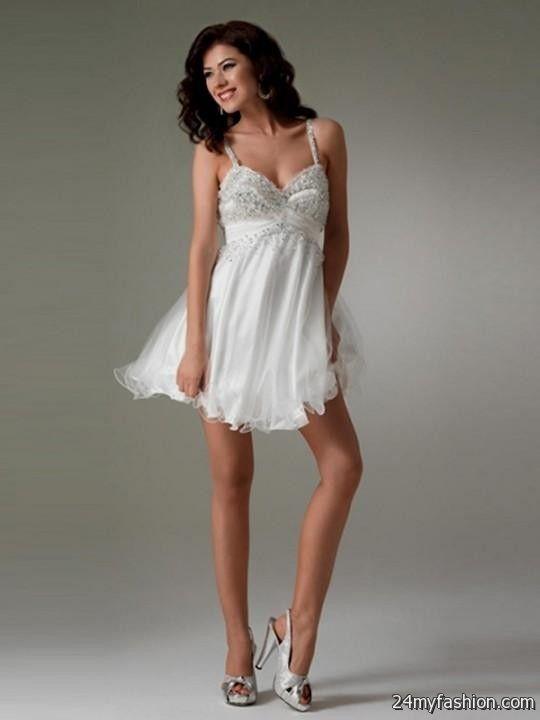 white short prom dresses with straps 20162017 b2b fashion
