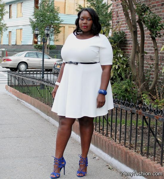 White Skater Dress Plus Size - Dress Foto and Picture