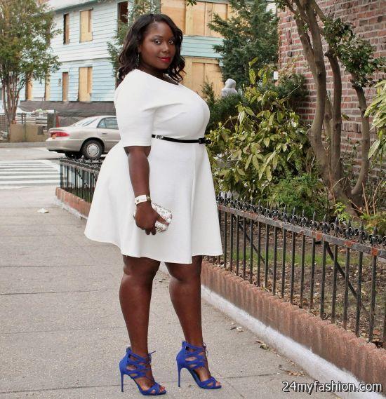 white skater dress plus size looks   B2B Fashion