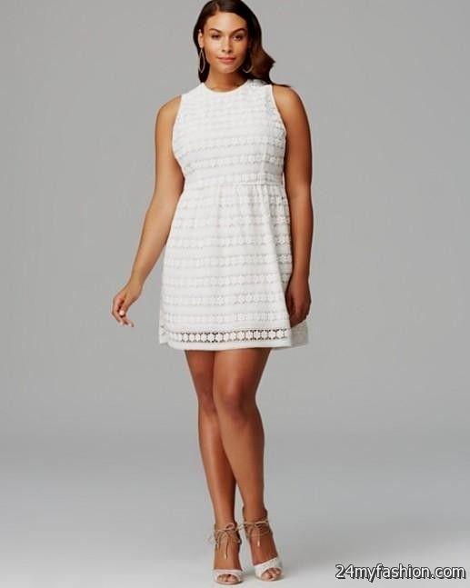 Plus Size White Skater Dress Plus Size Black Lace Overlay Highlow