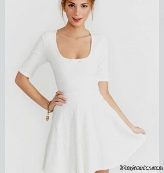 37d4ed923c5f white skater dress with sleeves looks